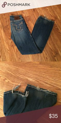 Big Star jeans size 27regular Big Star jeans size 27regular. They have some wear on the hem shown in second picture. Big Star Jeans Boot Cut