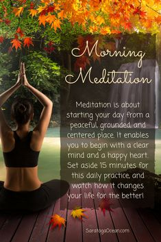 A morning meditation doesn't have to be complicated. It can be as simple as setting aside 15 or 20 minutes to read an inspiring book or write in a gratitude journal. It can be writing affirmations about your goals. Or it can be just relaxing and looking out the window at nature. Create an atmosphere of serenity by lighting a candle, holding your favorite crystal, and playing some peaceful music. Come into balance and center yourself before you start your day. Namaste <3