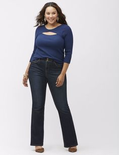 Lane Bryant Bootcut jean with T3 Tighter Tummy Technology