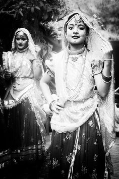 Ghoonghat-The Veil of North India:    In the Indian subcontinent and more so in the northern part of it, women in tradition bound houses, whether rich and urban or poor and rural, continue to maintain an informal sort of veil. Held with a left hand in a gesture akin to this, you can occasionally see this in some houses and sometimes on the streets.