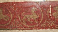 V 13th cent embroidered band2 | Flickr - Photo Sharing!  CHECK OUT THE SEALION ON THE LEFT!  Better pic on another picture on the flickr page