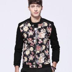 Flower bomber jacket for men jacket coat XL Printed Bomber Jacket, Bomber Jacket Men, Fall Outfits, Floral Tops, Flower, Stylish, Coat, Sleeves, Jackets