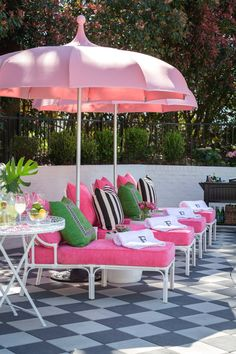 For a fun and funky deck or patio makeover, these Palm Beach chic outdoor decor ideas will have you spending your whole summer outdoors.
