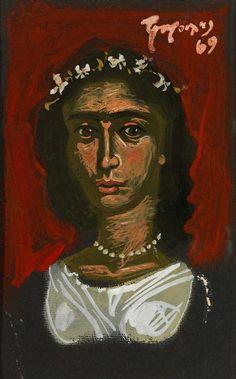 Painting by modern Greek artist Yannis Tsarouchis Greek Paintings, Modigliani, 10 Picture, Greek Art, Caravaggio, Michelangelo, Vincent Van Gogh, Contemporary Art, Greece
