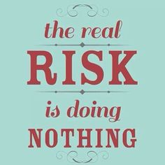 Get off the bench! #risk #dosomething