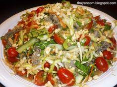 A Blog of Salt: Goi Thit Bo Xao - Sauteed Beef Salad