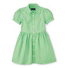 Cotton Oxford Shirtdress - Girls 2-6X Dresses & Skirts - RalphLauren.com