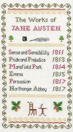 The Works of Jane Austen Sampler Cross Stitch Kit