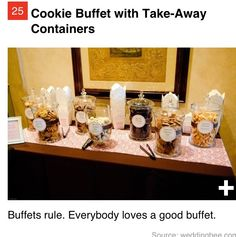 Cookie bar for wedding reception :)