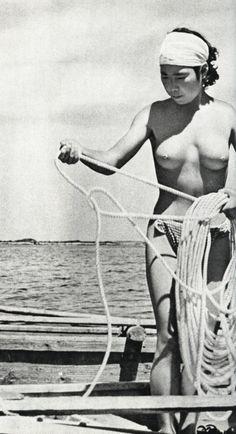 """From """"Hekura, the diving girl's island"""" photobook, 1962 by Fosco Maraini"""