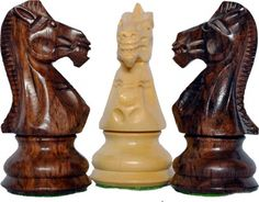 """Limited Edition Wooden Weighted Chess Set King 4"""" 2 Queens Extra"""