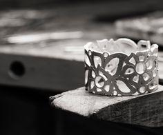 Inside Carelle's design studio in NYC, the Florette cuff comes to life