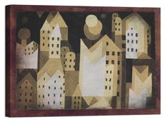 Stampa su Tela Vernice Effetto Pennellate PAUL KLEE Abstract Painting