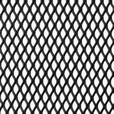 Expanded Steel Grille - Black (1220mm x 914mm x 1mm)