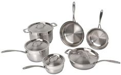 Berghoff Professional Copper Clad Stainless Steel 10 Piece Cookware Set