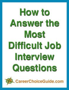 Answering difficult interview questions simply requires some good practice. Those common questions that frighten most job seekers don't have to trip you up or cause stress if you're well prepared. Supervisor Interview Questions, Practice Interview Questions, Difficult Interview Questions, Job Interview Tips, Job Interviews, Good Resume Examples, Job Career, Job Seekers, Educational Websites