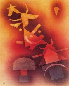 'De las frías profundidades', huile de Wassily Kandinsky (1866-1944, Russia)