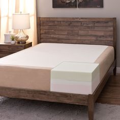 You will think you are sleeping on a cloud when you add this thick king-size memory foam mattress to your bed. This mattress has eleven inches of foam to comfort and support your body so that you sleep soundly and peacefully all night long.