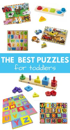 THE BEST PUZZLES for toddlers #toddlers #preschool #daycare #kids #parenting