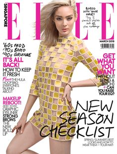 Lucy McIntosh - Elle Magazine Cover [Singapore] (March 2013)