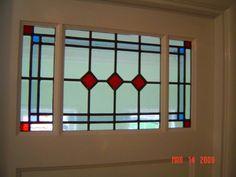 Slaapkamerdeur pimpel met glas-in-lood