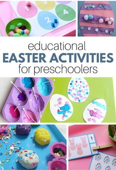 Find awesome educational easter activities for kids in this list for preschool and kindergarten. Letters, numbers, fine motor and more. Graphing Activities, Preschool Activities, April Preschool, Preschool Writing, Number Activities, Preschool Class, Easter Activities For Kids, Spring Crafts For Kids, Easter Books