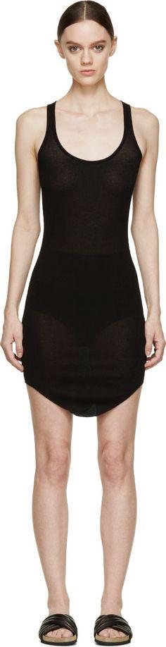 Isabel Marant Etoile - Black Ribbed Tank Lena Dress