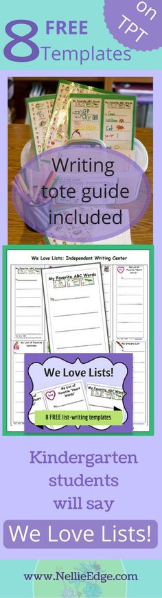 A fun and creative way to engage kindergarten writers is to give them these writing prompts! Proven strategies (from master teachers) included in teacher's guide. Wht a fun way to start the year! Writing Folders, Writing Lists, Writing Lessons, Teaching Writing, Teaching Tips, Writing Prompts, Writing Ideas, Writing Curriculum, Writing Rubrics