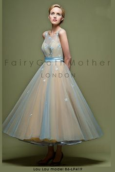 50's style tea length wedding or prom dress