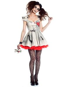 """Voodoo Doll Adult Womens Costume // I hate to admit this look cute. I can make three foot long """"pins"""" for use...."""
