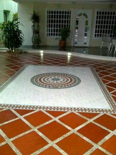 Home Tiles Design, Spanish Style Homes, House Tiles, Stamped Concrete, Hogwarts, Mosaic, Flooring, Interior, Home Decor