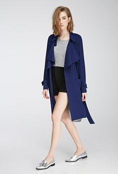 Belted Crepe Trench Coat - Shop All - 2000057443 - Forever 21 EU
