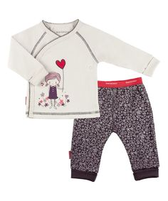 Look at this Oyster I Heart You Wrap Tee & Pants - Infant on #zulily today!