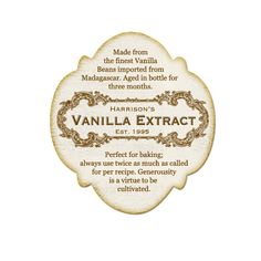 vanilla extract labels pinterest vanilla printable labels and gift