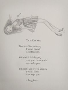 The Keeper by Lang Leav.