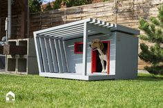 WAFF Modernity doghouse - Modern smart doghouse – www. Modern Dog Houses, Cool Dog Houses, Dog House Plans, Pallet Dog House, Dog Playground, Wood Dog, Cat Condo, Pet Furniture, Outdoor Dog