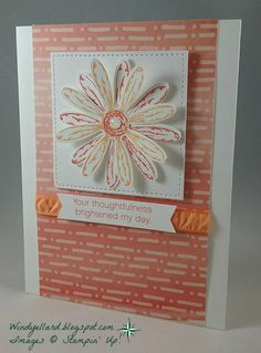 I have been wanting to do two different colors with the   daisy stamp and punch. So this layout was perfect to use these again.   ...