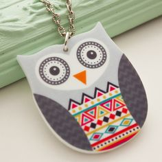 Aztec owl necklace £10.00