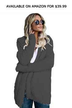 732f8fbfb5 Dickin Women Winter Casual Hooded Knitted Sweater Cardigan Coat Wool    Blends ◇ AVAILABLE ON AMAZON