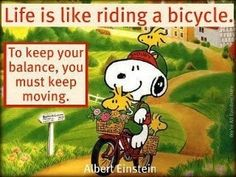Snoopy keep moving