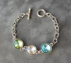Mother's Birthstone Bracelet, Jewelry for Mom, Grandmother's Bracelet, Mom Jewelry, Mother's Day Jewelry Gift on Etsy, $44.00