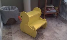 Rubber Ducky Stepstool by TrulyCanadianWW on Etsy, $30.00