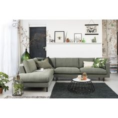 All Details You Need to Know About Home Decoration - Modern Living Room Green, Living Room Sofa, Living Room Interior, Home And Living, Living Room Decor, Minimalist Sofa, Rustic Home Design, Condo Decorating, Couch