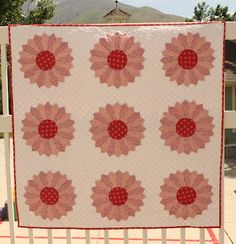 red and white dresden quilt from Joy's thoughts and things