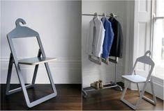 Складные компактные стулья – вешалки (дизайнер Philippe Malouin)