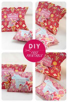 free printable christmas pilow box 7