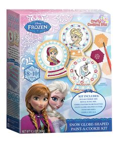 Look at this Frozen Snow Globe-Shaped Paint-a-Cookie Kit - Set of Two on #zulily today!