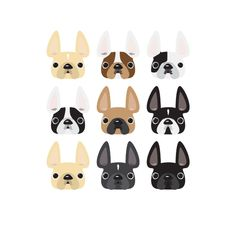 Frenchie Faces Art Print by French Bulldog Love | Society6