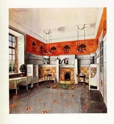 An English Arts & Crafts drawing room 1912