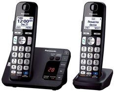PANASONIC KX-TGE232B DECT 6.0, Expandable Cordless Phone, Ans. Syst, TCID, CWCID #Panasonic